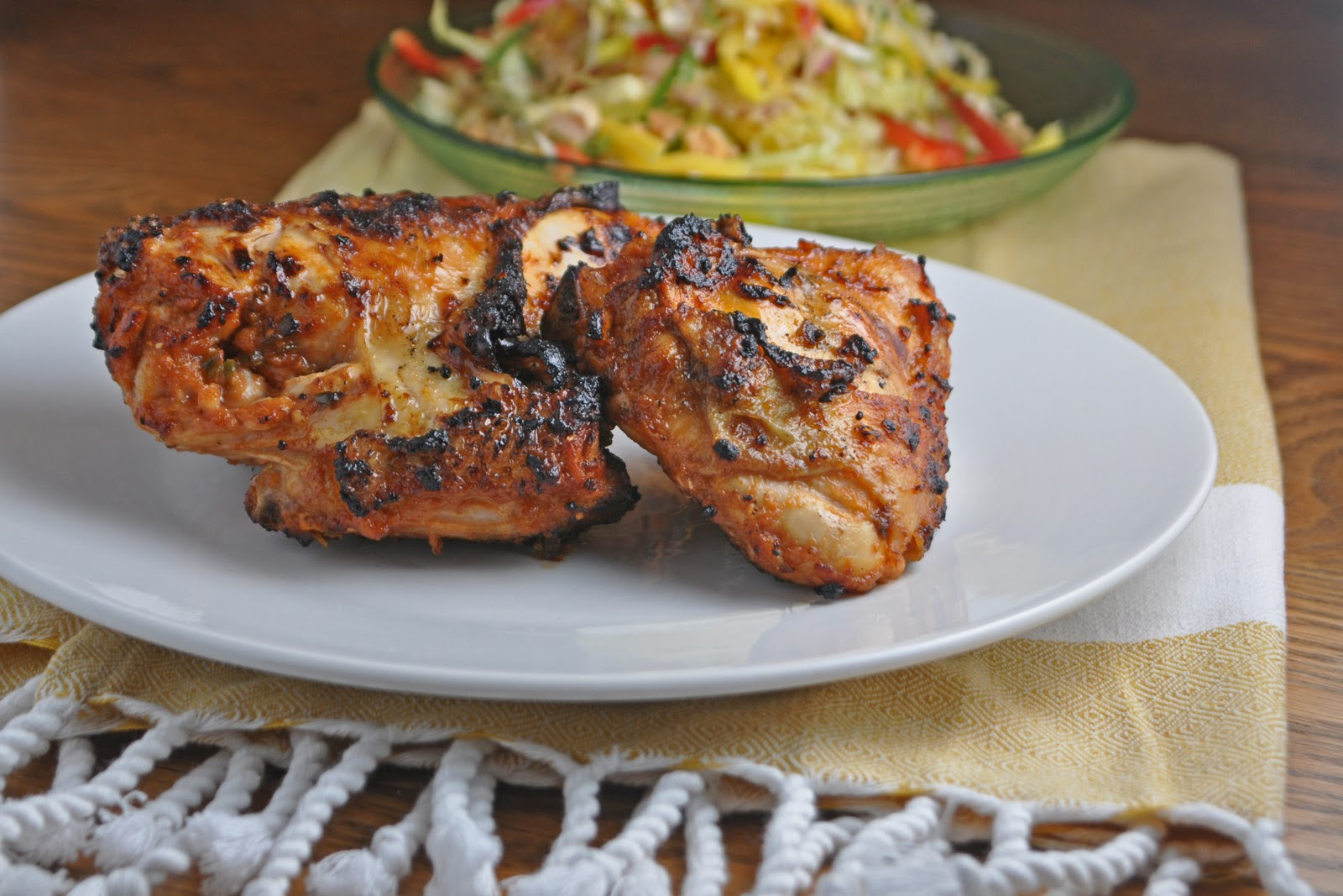 Impeccable Taste: Spicy Grilled Chicken & Mango Slaw