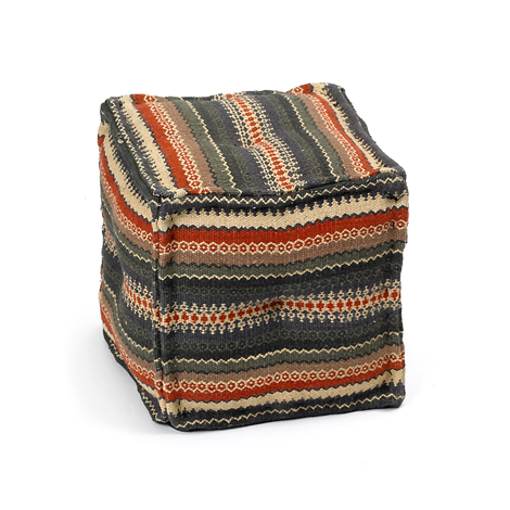 Kilim square ottomans via Hudson Goods as seen on linenandlavender.net