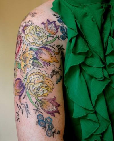 tattoo on Pinterest   Celtic Symbols, Flower Tattoos and ... Vintage Flower Tattoo Sleeve