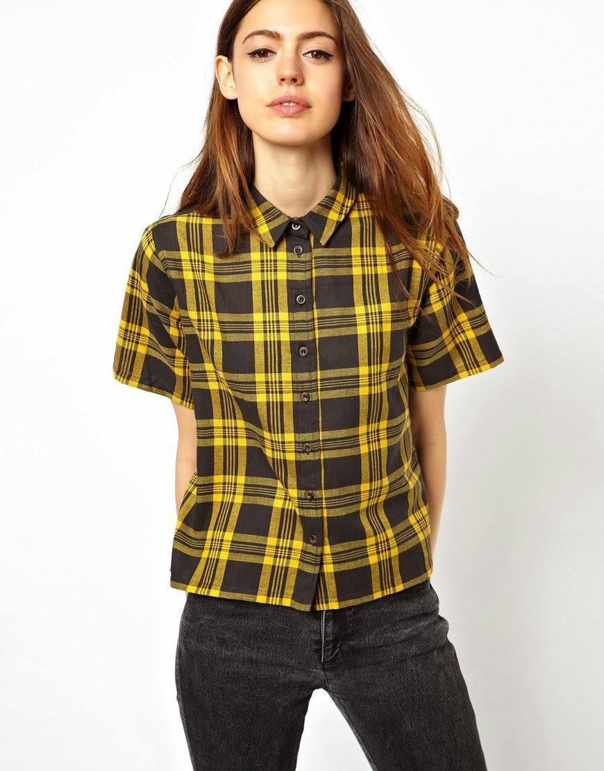bright check shirt asos