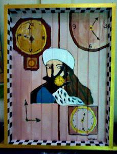 Pintura acrílica em janela de madeira - 2013