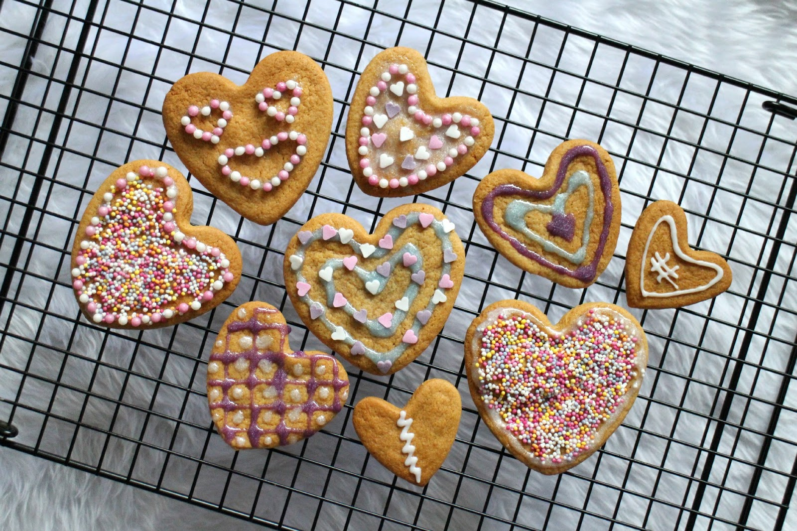 Gingerbread Valentine Hearts