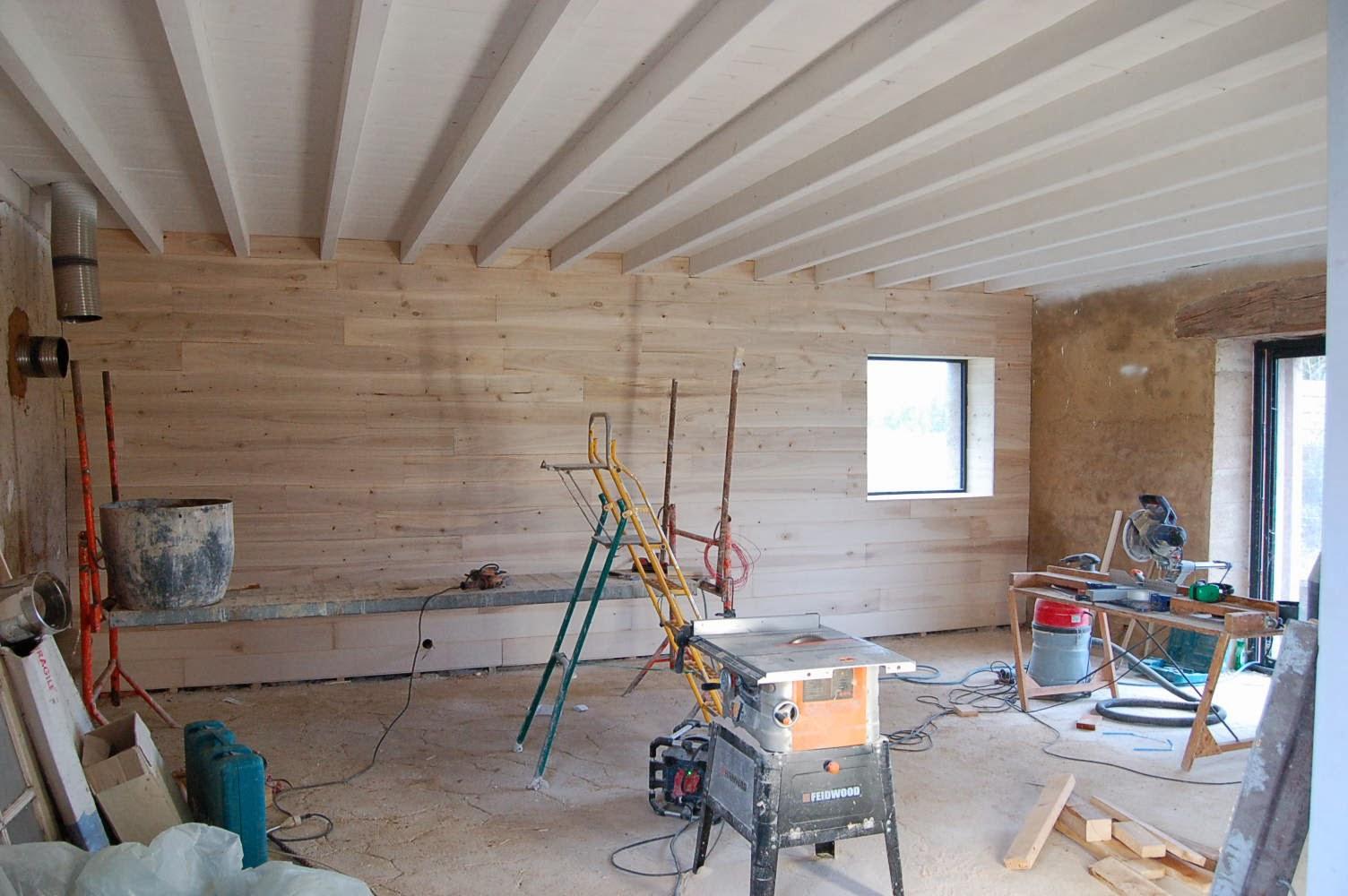 La gremiere en travaux d cembre 2013 for Mur interieur en volige