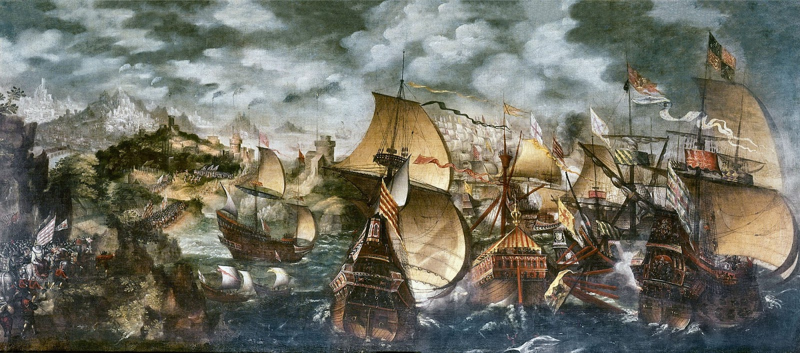 spanish armarda In may 1588 a massive invasion fleet or 'armada' sailed from the port of lisbon it was made up of 130 ships fitted with 2,500 guns they carried 30,000 soldiers and sailors this great war fleet was bound for england why is the 1588 battle with the spanish armada so famous the armada is famous.