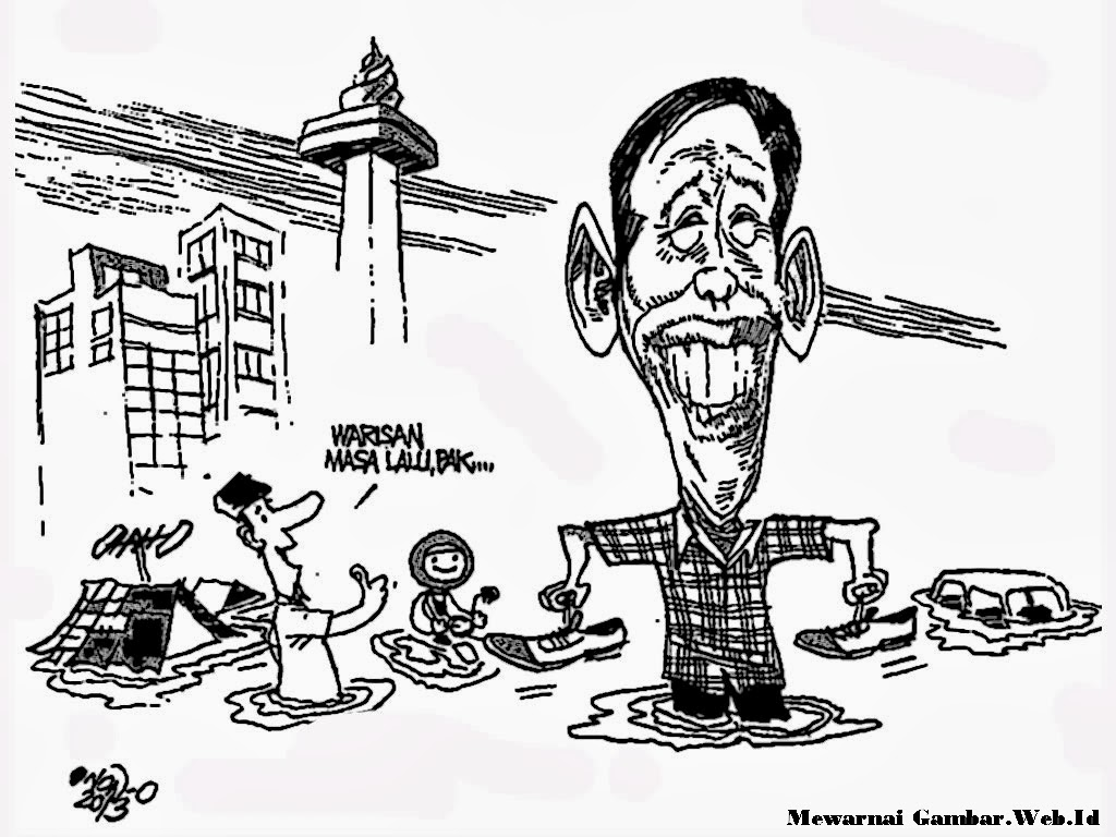 Mewarnai Gambar Karikatur Jokowi