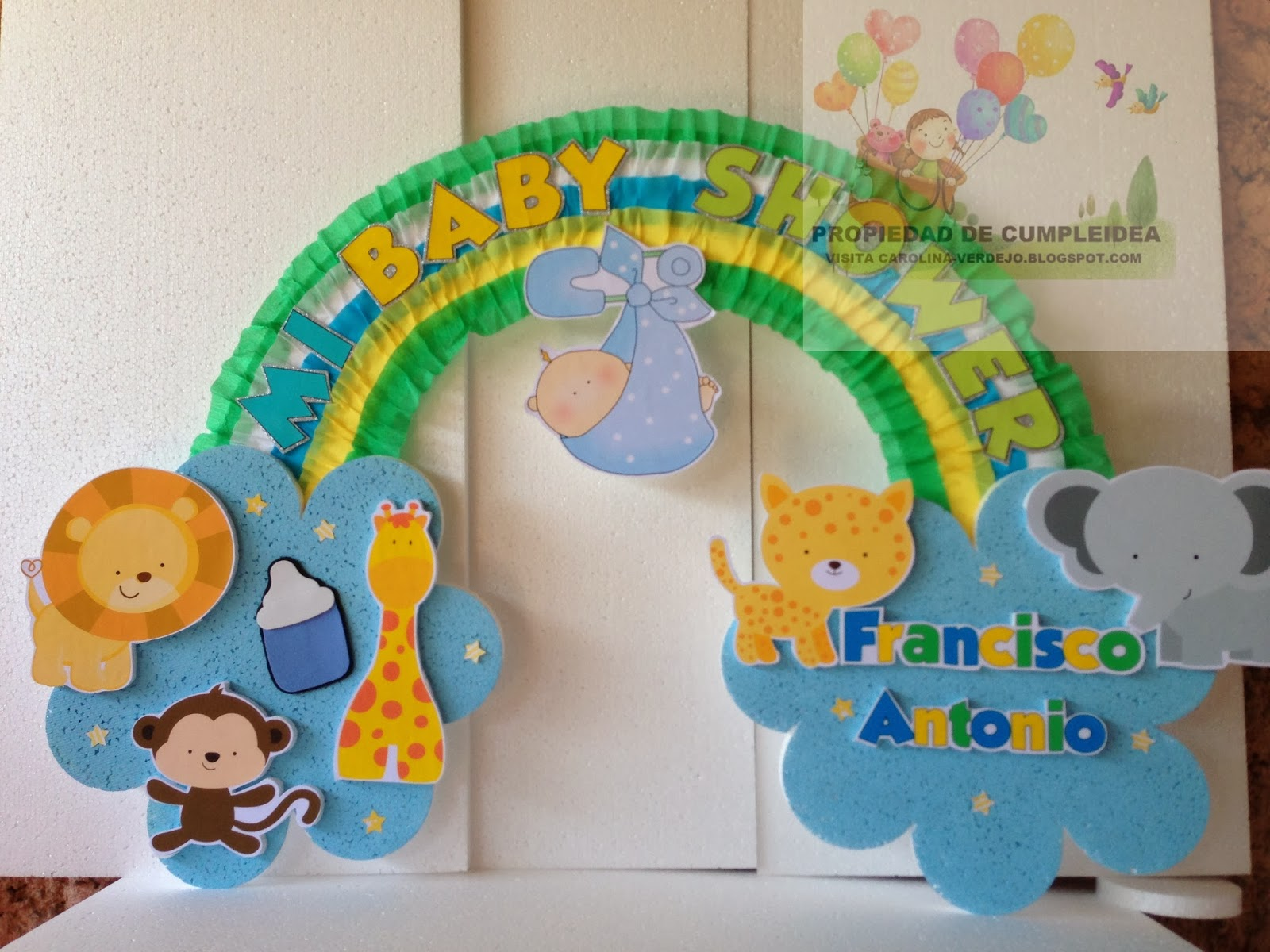 Decoraciones Infantiles Baby Shower Animalitos Bb