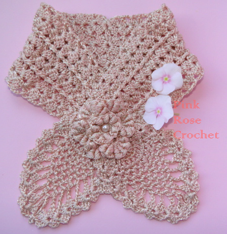 Crochet Patterns Neck Warmers : PINK ROSE CROCHET: Golinha de Abacaxi Pineapple Neck Warmer Pattern