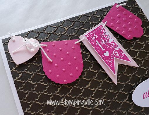 Stampin' Up! Hearts a Flutter Framelits Banner