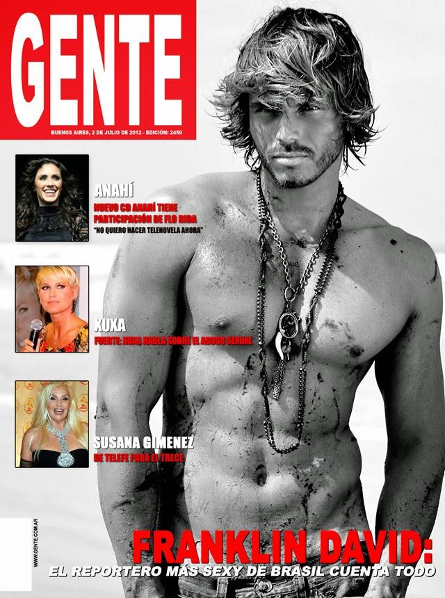 Franklin David é capa da edição de julho da revista espanhola Gente. Foto: Divulgação