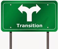 Transition Road Sign