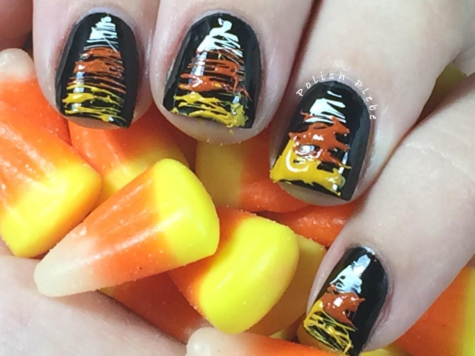 Nails Art Sugar Spun Candy Corn Nails