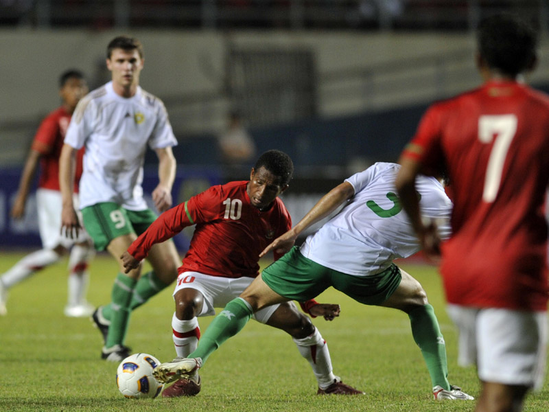Pertandingan Pra Olimpiade 2012 Indonesia VS Turkmenistan