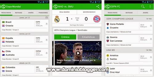 ESPN FC Futbol y Copa Mundial para Android gratis