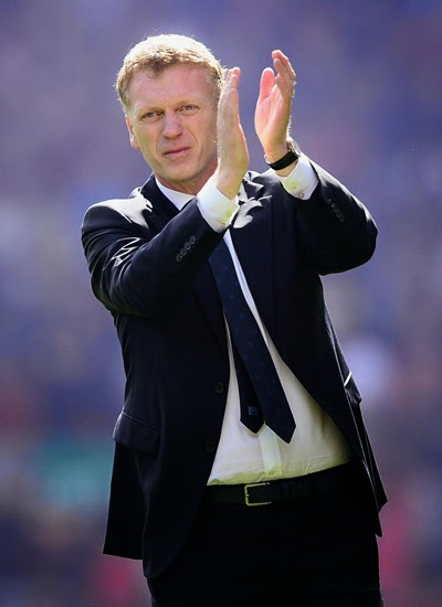 David Moyes Manchester United Manager of Barclays Premier League