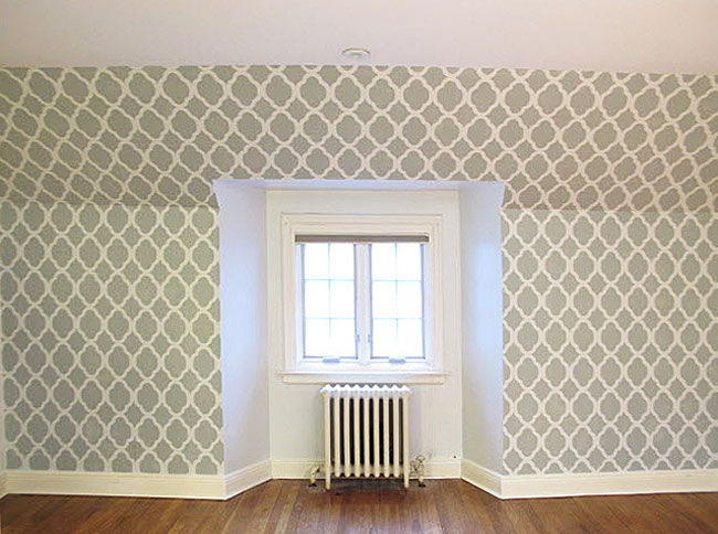 Mrs This And That Wall Stencils Wainscoting