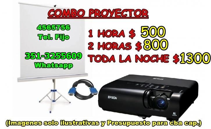 COMBO DE PROYECTOR Y PANTALLA (arma tu combo de acuerdo a tu presupuesto)