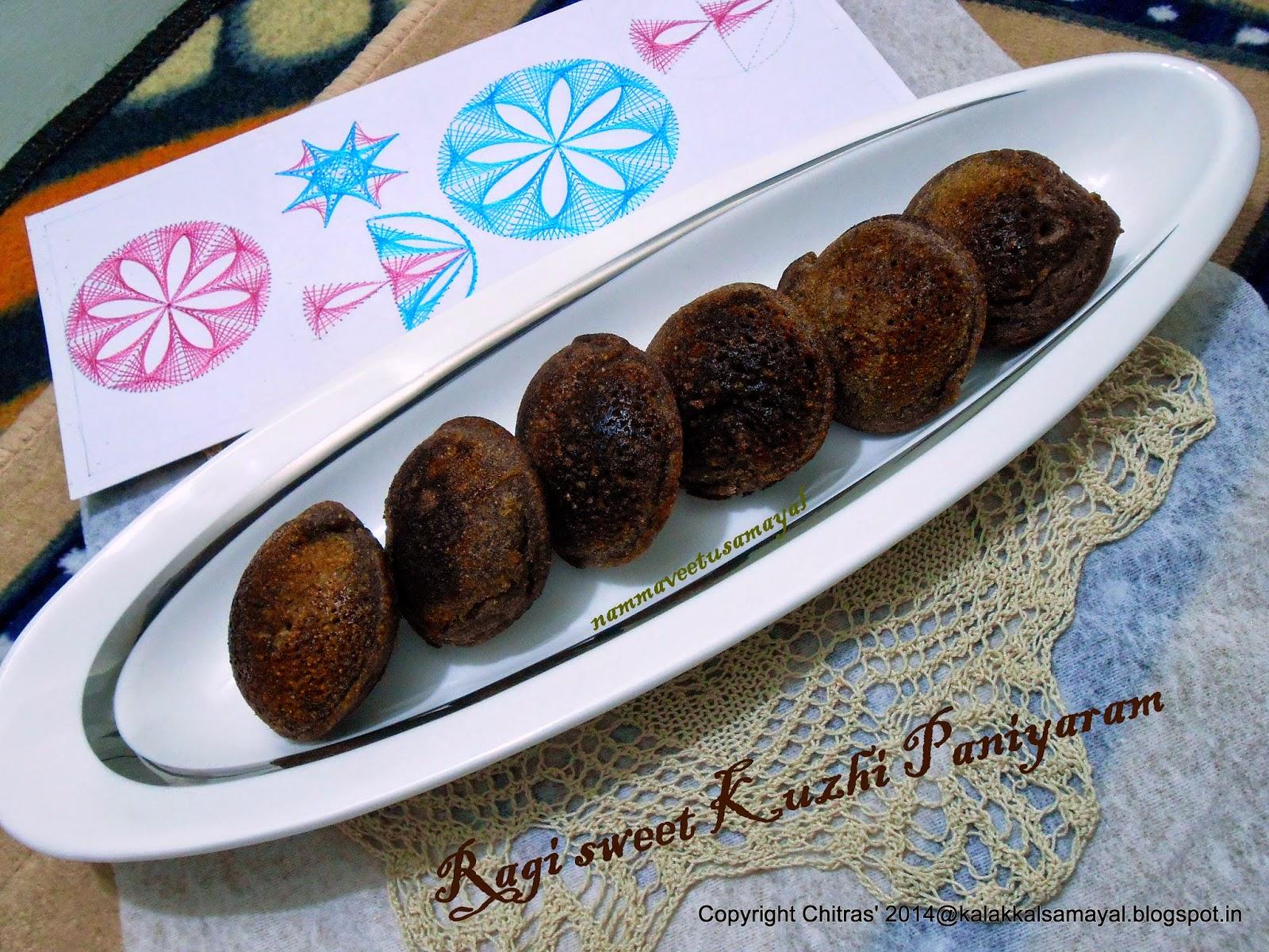 Ragi Sweet Kuzhi Paniyaram