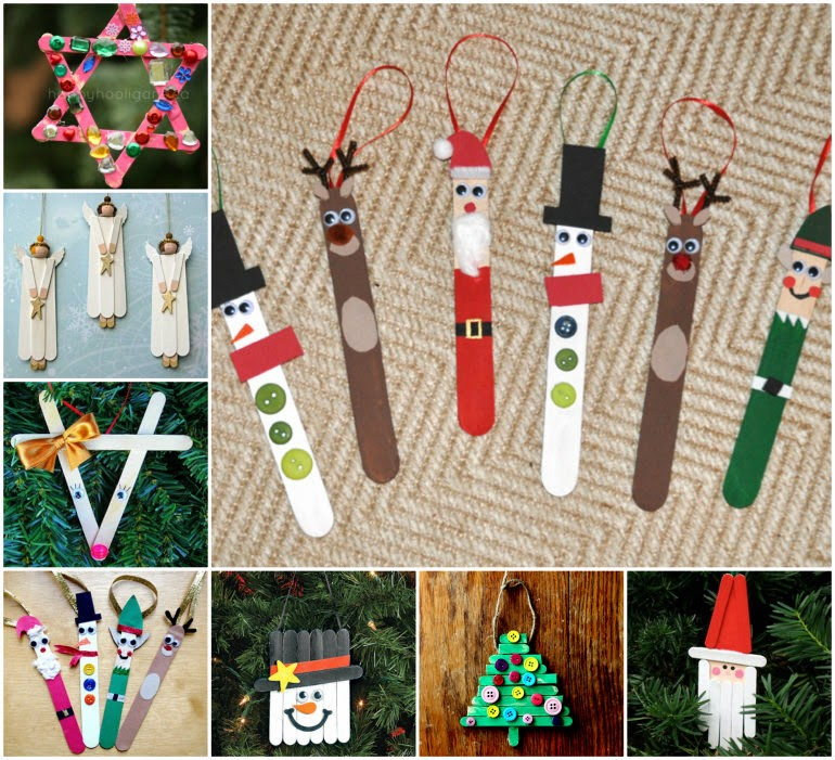 Christmas Craft Ideas With Popsicle Stick : Ideas products christmas popsicle stick art