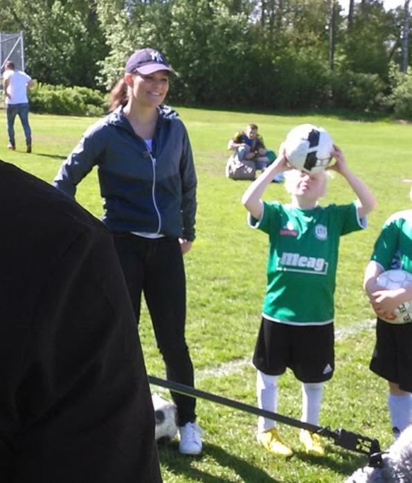 Princess Victoria At The Västerås Stadium