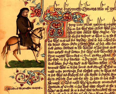 17th April 1397 Geoffrey Chaucer Reads The Canterbury Tales For