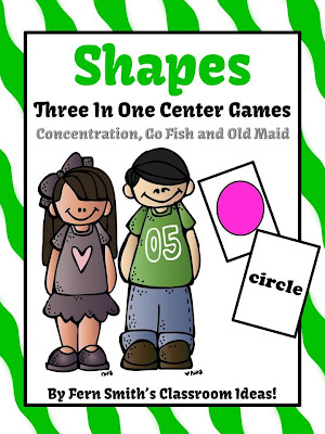 Fern Smith's Shapes Math Center Card Games!