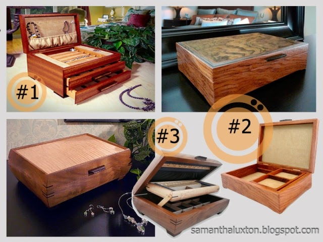 Handcrafted Wood Jewelry Boxes