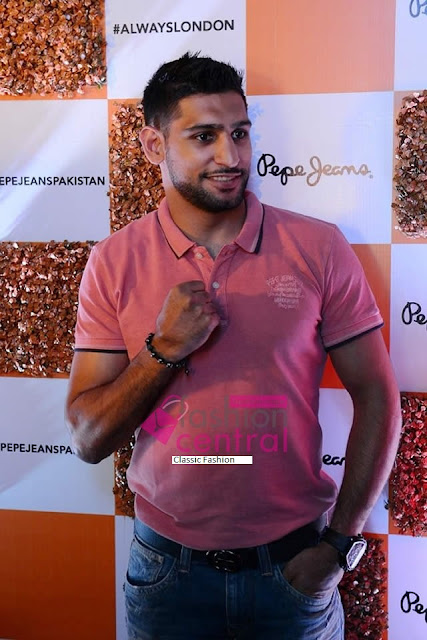Boxing Champion Amir Khan Launching PEPE Jeans AW15 Collection