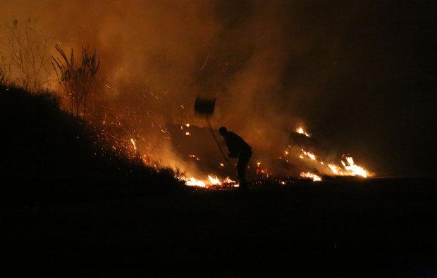 Incêndio destrói área na Chapada Diamantina (Foto: Dimitri Argolo Cerqueira)