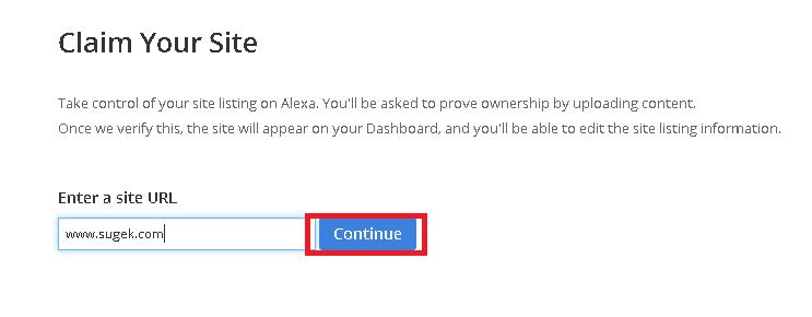cara daftar alexa rank