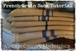 French Inspired Grain Sack Tutorial