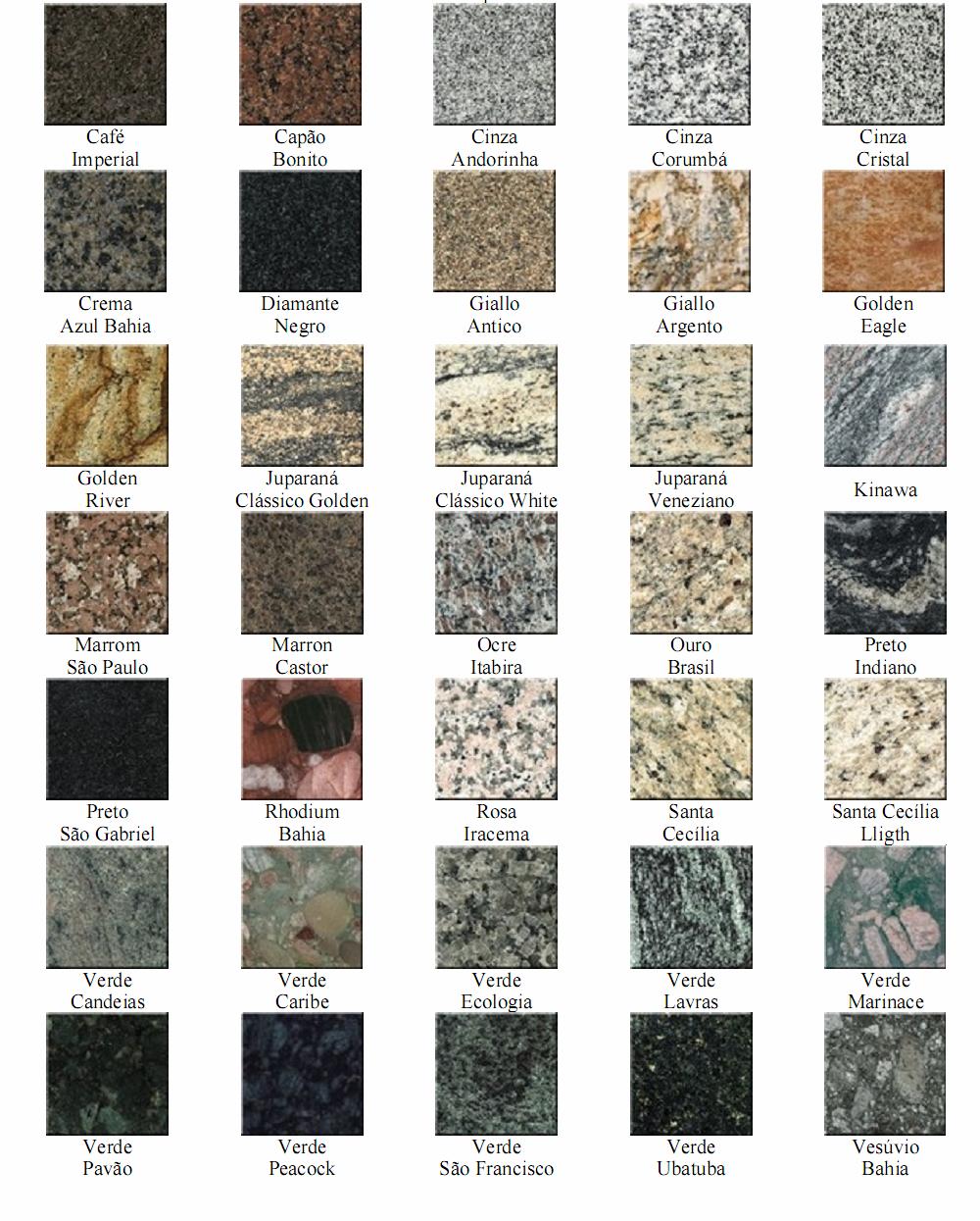 Felcon marmoraria for Tipos de granito para pisos