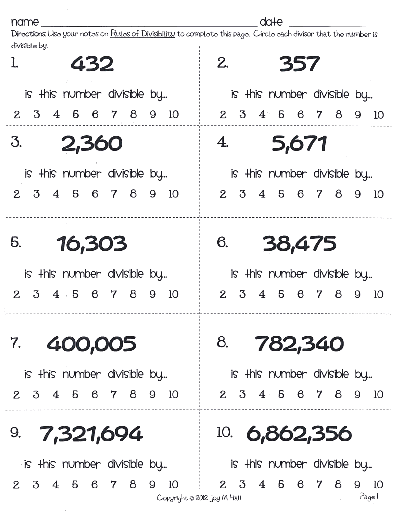 worksheet Divisibility Test Worksheet divisibility worksheet free worksheets library download and rules for 3 6 9 digit numbers a