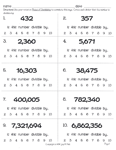 math worksheet : 2 3 4 divisibility rules related keywords  suggestions  2 3 4  : Divisibility Rules Worksheet Printable