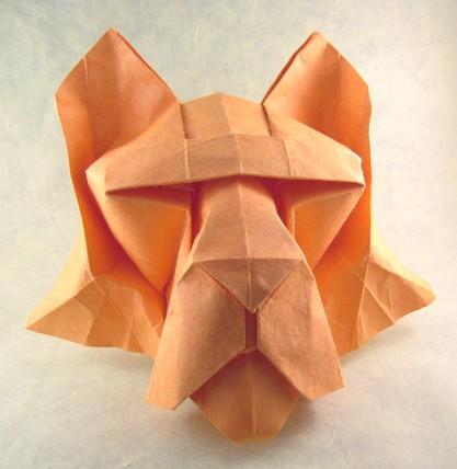 Origami tiger noboru 3d