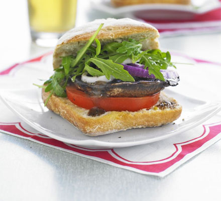 ... Mushroom-Tomato Bordelaise and Prosciutto-wrapped Asparagus Recipe