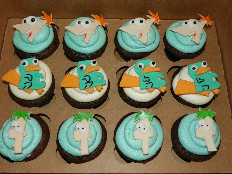 Phineas And Ferb Cupcakes
