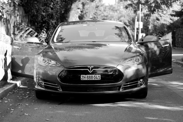 Tesla Model S Front View