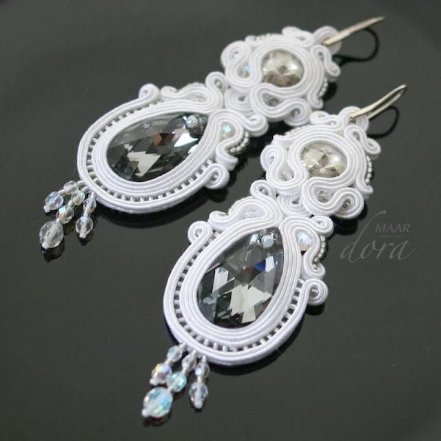 earrings soutache wedding bride