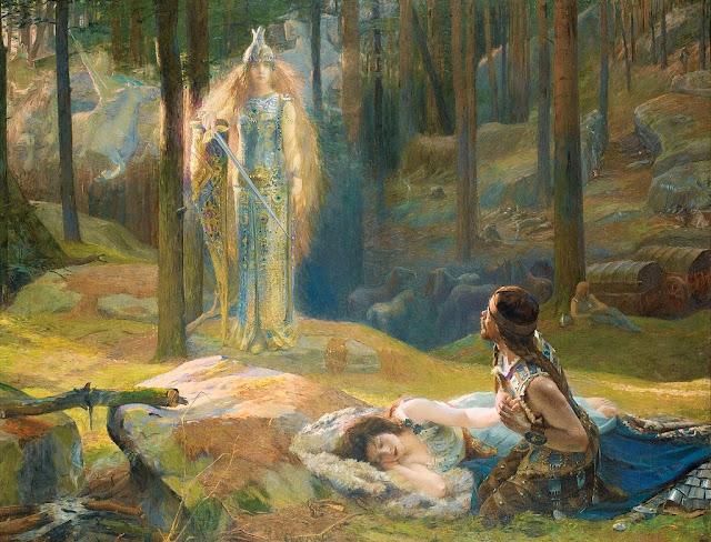 symbolist painting,Sigmund, valkery