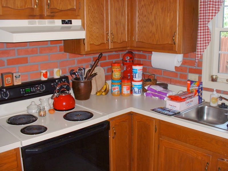 Our diy kitchen makeover hymns and verses for Butter cream colored kitchen cabinets