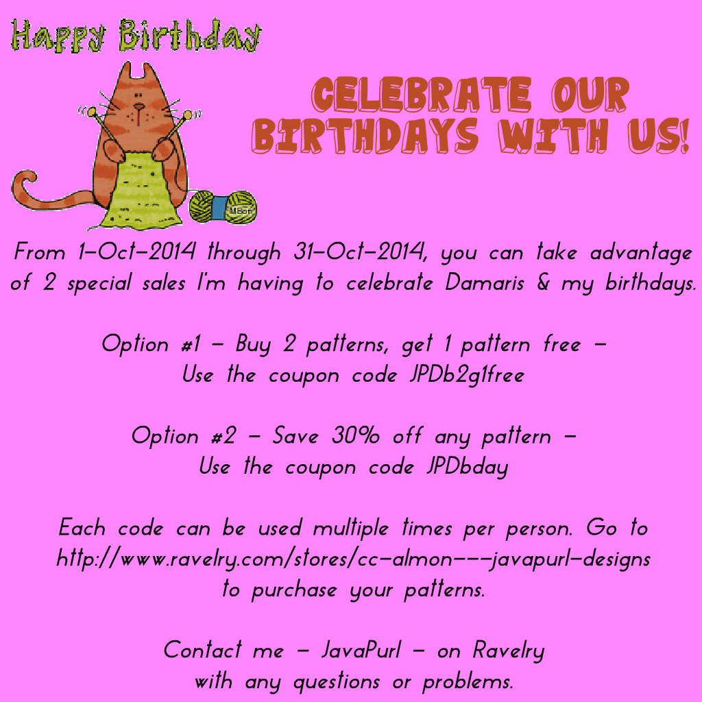 Geeky girls knit episode 110 in which were retreating birthday month sale continues through 31 october 2014 fandeluxe