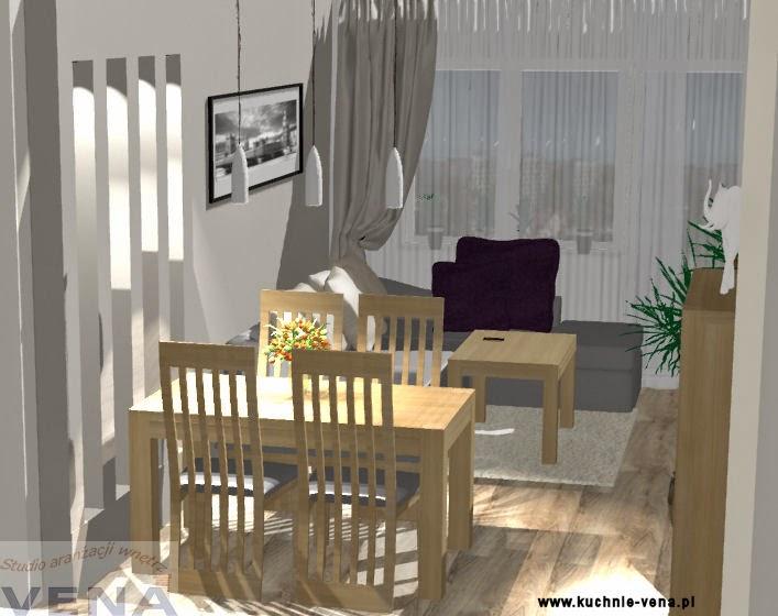 Projekt wnętrza Lublin - Vena - oświetlenie nad stołem