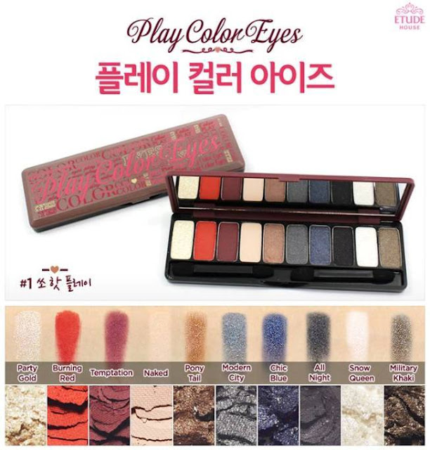 Etude House Play Color Eyes palette 1 swatches