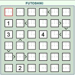 Futoshiki (Logical Thinking Puzzle Game)