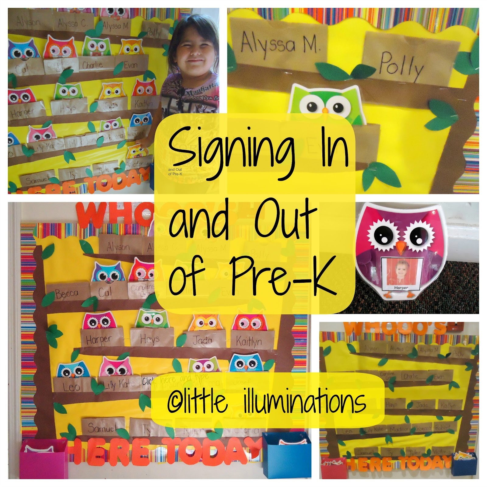 Classroom Ideas Pre K ~ Little illuminations signing in and out pre k