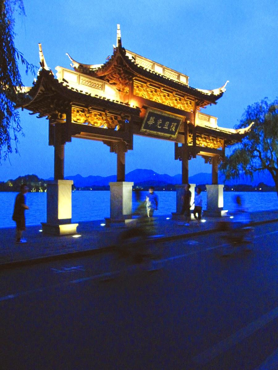 west lake hangzhou china dusk