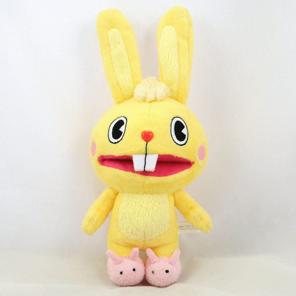 "Happy Tree Friends Cuddles Yellow Bunny Plush Stuffed Doll Ball Chain 10"" 25cm"