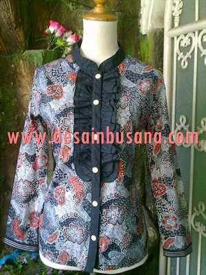 blus batik muslim