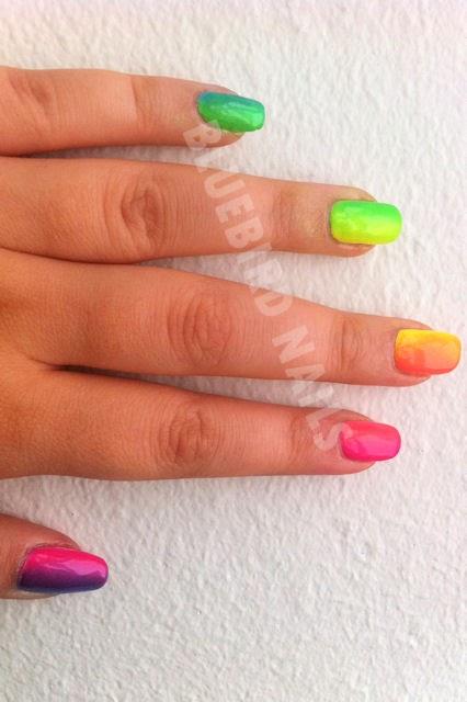 rainbow gradiant china glaze summer neons