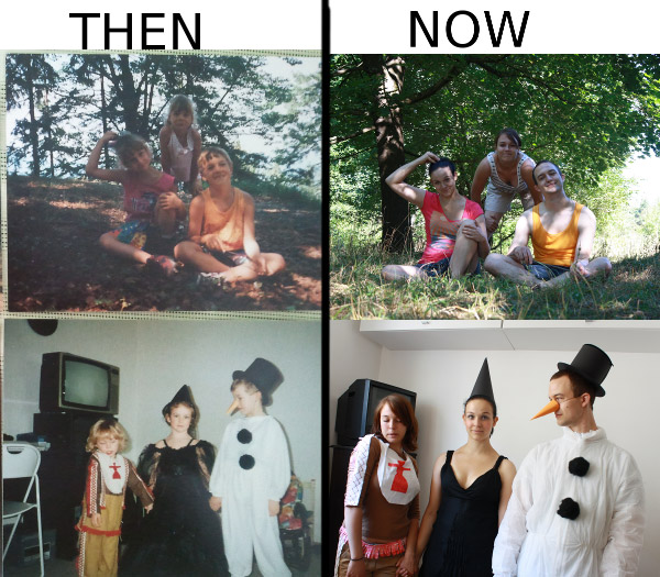 Then And now Photography Pics